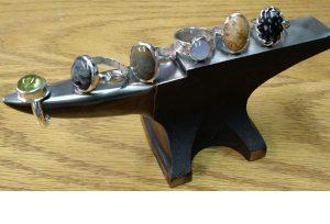Beginner carved, heavy bezel rings