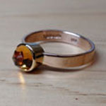 14kt rose cut citrine ring by Mallory Shelter
