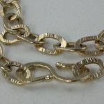 Forged 58.9 gram 14kt. chain with clasp