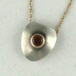 red gem pendant