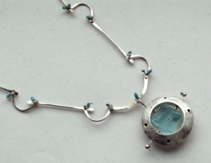 Sterling necklace with quartz