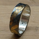 18kt fused to sterling, patinated by Kelly Gorsuch