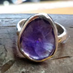 Amethyst slice 14kt ring by Mallory Shelter