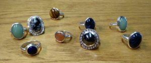 Carved ring assortment by beginners
