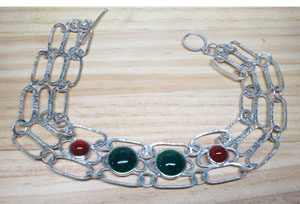 Choker with bezel set stones by Young Lee