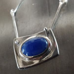 Tanzanite pendant in 18kt/sterling by Vera Meyer