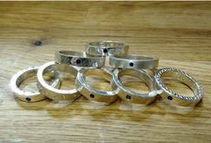 Intermediate rings, flush set
